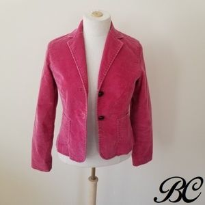 GAP Jacket Pink Corduroy Cropped Lined Distressed